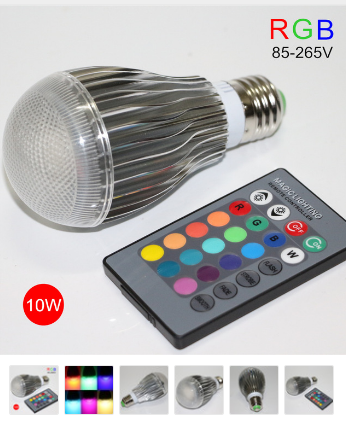 E27 10W 220V RGB LED COULEUR