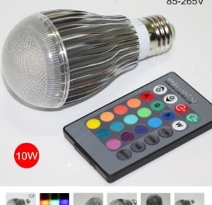 E27 10W 220V RGB LED COULEUR